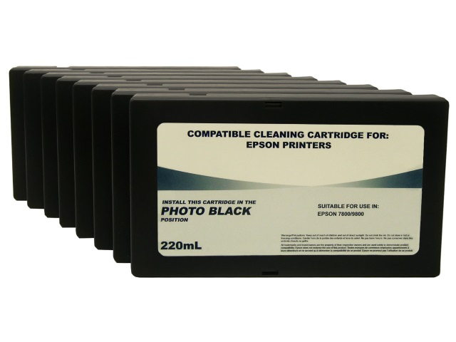 8-Pack 220ml Cleaning Cartridges for Epson Stylus Pro 7800, 9800