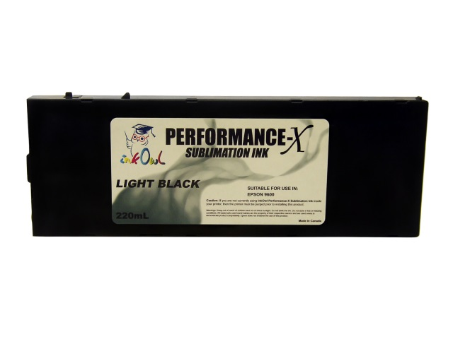 220ml LIGHT BLACK Performance-X Sublimation Cartridge for Epson Stylus Pro 9600