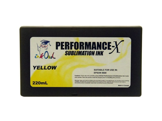 220ml YELLOW Performance-X Sublimation Cartridge for Epson Stylus Pro 9800