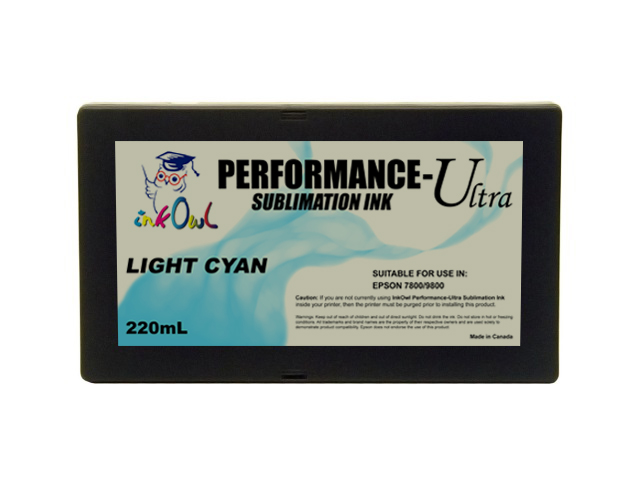 220ml LIGHT CYAN Performance-Ultra Sublimation Cartridge for Epson Stylus Pro 7800, 9800