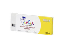 220ml YELLOW Compatible Cartridge for Mutoh ValueJet Eco-Ultra Printers