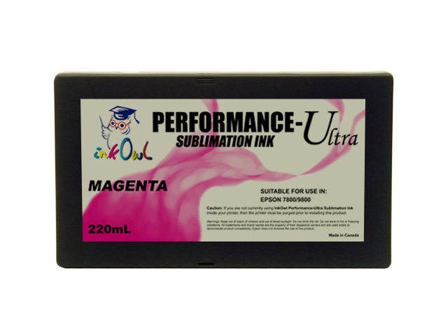 220ml MAGENTA Performance-Ultra Sublimation Cartridge for Epson Stylus Pro 7800, 9800