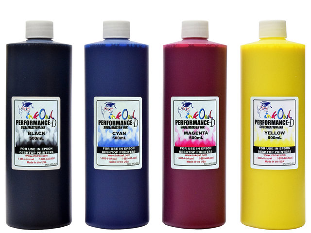 4x500ml Performance-D Sublimation Ink for Epson Desktop Printers