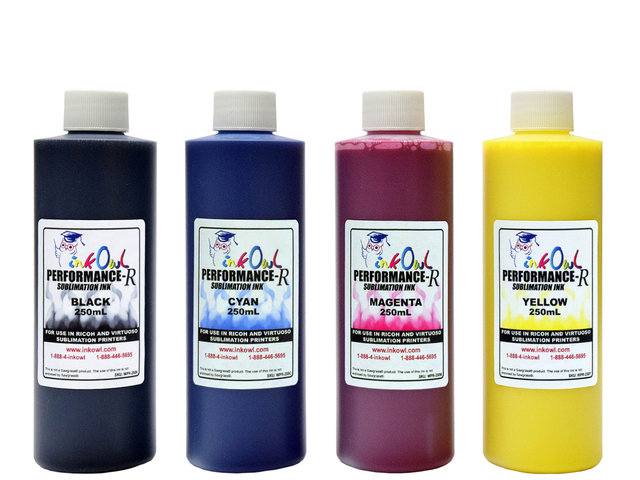 4x250ml Performance-R Sublimation Ink for use in Ricoh® and Virtuoso® printers