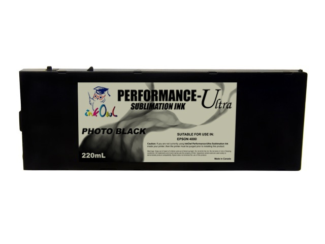 220ml PHOTO BLACK Performance-Ultra Sublimation Cartridge for Epson Stylus Pro 4880