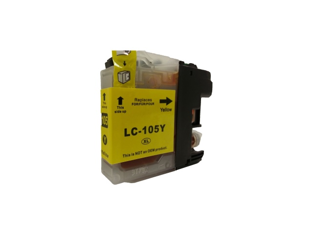 Compatible Cartridge for BROTHER LC105Y YELLOW