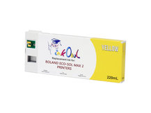 220ml YELLOW Compatible Cartridge for Roland ECO-SOL MAX 2 Printers (ESL4-YE)