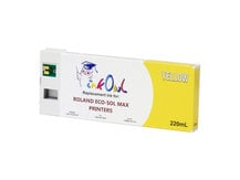 220ml YELLOW Compatible Cartridge for Roland ECO-SOL MAX Printers (ESL3-YE)