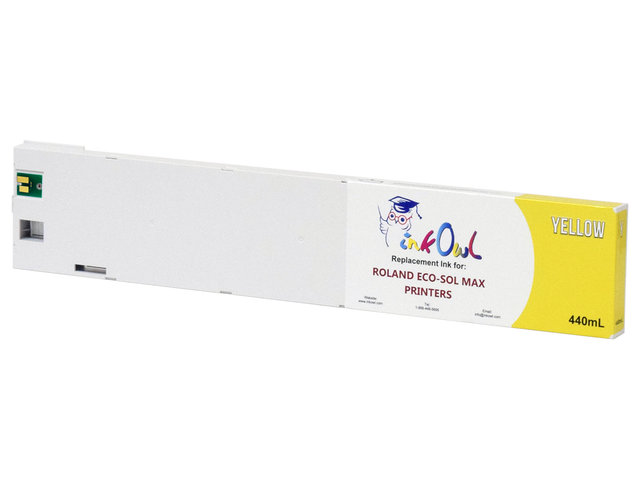 440ml YELLOW Compatible Cartridge for Roland ECO-SOL MAX Printers (ESL3-4YE)