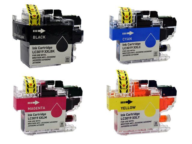 4-Pack Compatible Cartridges for BROTHER LC3019
