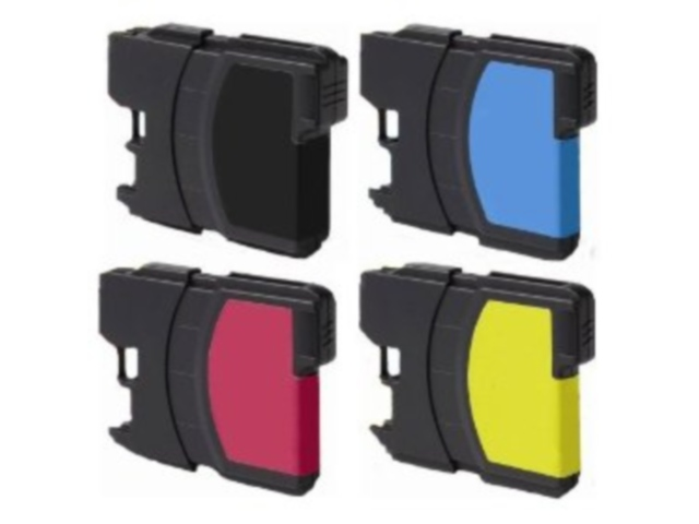 4-Pack Compatible Cartridges for BROTHER LC61