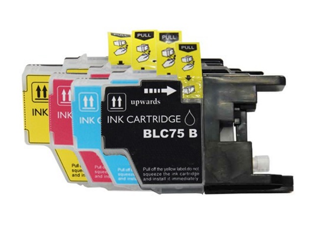 4-Pack Compatible Cartridges for BROTHER LC75