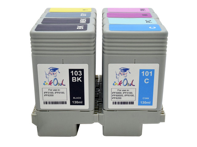 8-pack 130ml Compatible Cartridges for CANON PFI-101/103