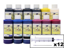 12x120ml Ink Refill Kit for CANON PFI-1000 (PRO-1000)