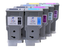 8-pack 300ml Compatible Cartridges for CANON PFI-206