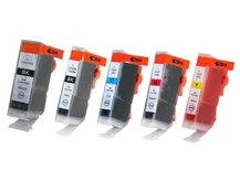 5-Pack Compatible Cartridges for use with CANON BCI-3/5/6 (eBK, BK, C, M, Y)