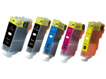 5-Pack Compatible Cartridges for use with CANON CLI-281XXL/PGI-280XXL (2BK, C, M, Y)