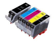 5-Pack Compatible Cartridges for use with CANON CLI-8, PGI-5 (2BK, C, M, Y)