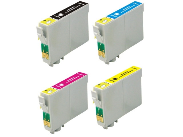 4-Pack Replacement Cartridges for EPSON T1261-T1264 (#126)