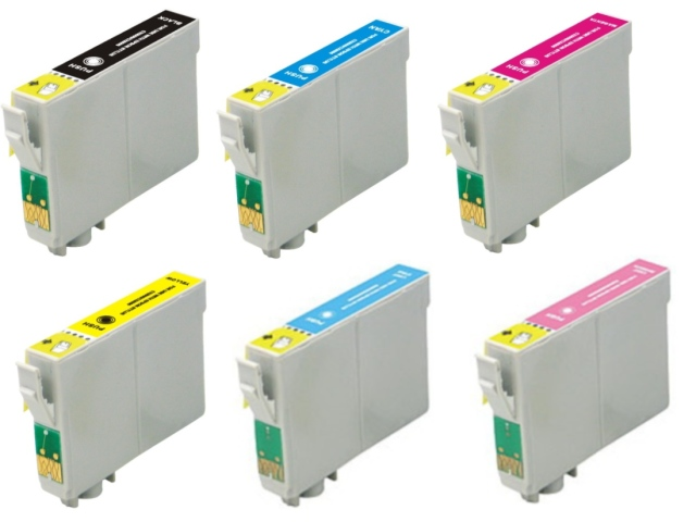 6-Pack Replacement Cartridges for EPSON T0791-T0796 (#79)