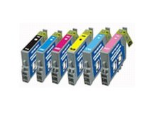 6-Pack Replacement Cartridges for EPSON T0481-T0486 (#48)