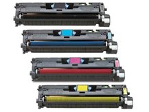 4-Pack Replacement Cartridges for HP Q3960A-Q3961A-Q3962A-Q3963A (122A)