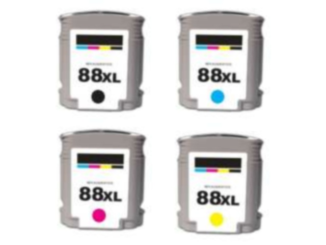 4-Pack Compatible Cartridges for HP #88XL
