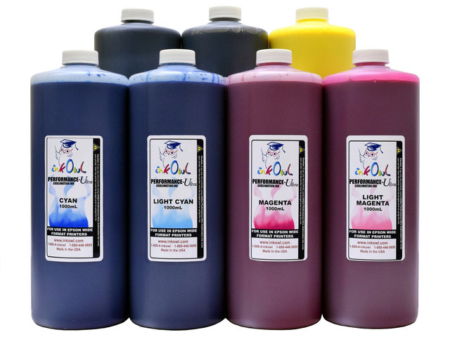 7x1000ml Performance-Ultra Sublimation Ink for Epson Wide Format Printers