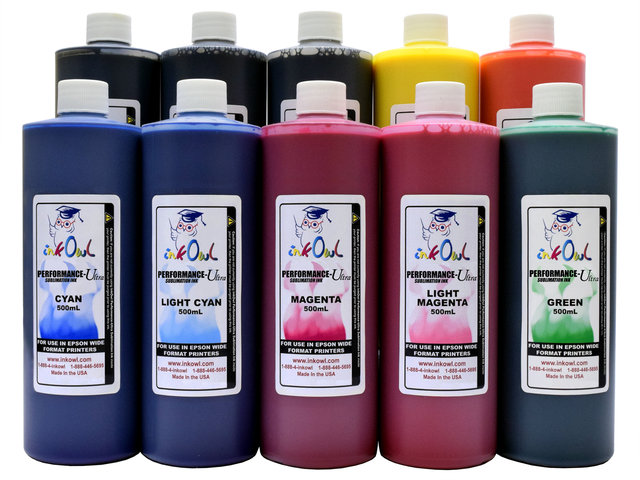 10x500ml Performance-Ultra Sublimation Ink for Epson Wide Format Printers