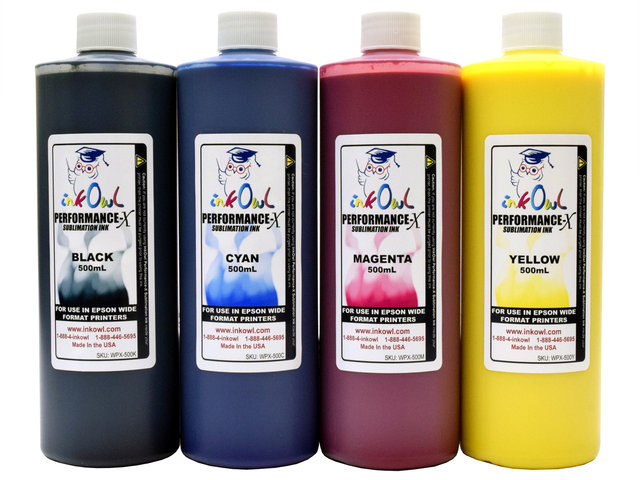 4x500ml Performance-X Sublimation Ink for Epson Wide Format Printers