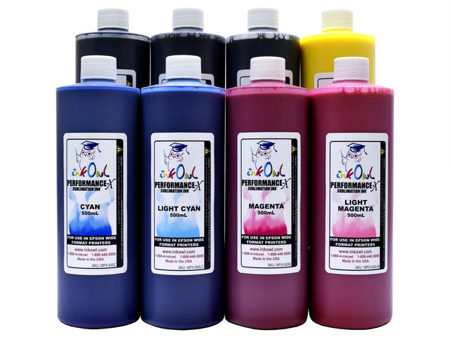 8x500ml Performance-X Sublimation Ink for Epson Wide Format Printers
