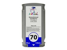 Remanufactured 130ml HP #70 BLUE Pigment Cartridge for DesignJet Z3100, Z3200 (C9458A)