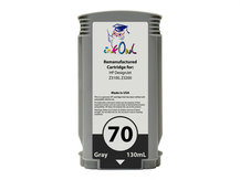 Remanufactured 130ml HP #70 GRAY Pigment Cartridge for DesignJet Z3100, Z3200 (C9450A)