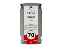 Remanufactured 130ml HP #70 RED Pigment Cartridge for DesignJet Z3100 (C9456A)