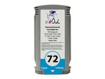 Remanufactured 130ml HP #72 CYAN Cartridge for DesignJet T-series (C9371A)