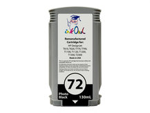 Remanufactured 130ml HP #72 PHOTO BLACK Cartridge for DesignJet T-series (C9370A)