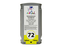 Remanufactured 130ml HP #72 YELLOW Cartridge for DesignJet T-series (C9373A)