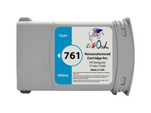 Remanufactured 400mL HP #761 CYAN Cartridge for DesignJet T7100, T7200 (CM994A)