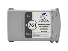 Remanufactured 400mL HP #761 GRAY Cartridge for DesignJet T7100, T7200 (CM995A)
