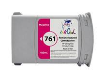Remanufactured 400mL HP #761 MAGENTA Cartridge for DesignJet T7100, T7200 (CM993A)