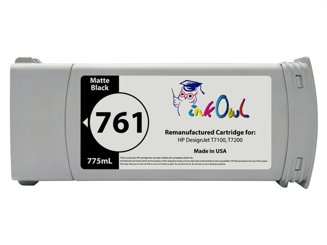 Remanufactured 775mL HP 761 MATTE BLACK Cartridge For DesignJet T7100 T7200 CM997A