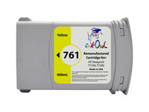 Remanufactured 400mL HP #761 YELLOW Cartridge for DesignJet T7100, T7200 (CM992A)