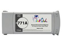 Remanufactured 775ml HP #771A series LIGHT GRAY Pigment Cartridge for DesignJet Z6200, Z6600, Z6800 (B6Y22A)