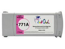 Remanufactured 775ml HP #771A series LIGHT MAGENTA Pigment Cartridge for DesignJet Z6200, Z6800 (B6Y19A)