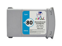 Remanufactured 350ml HP #80 CYAN for DesignJet 1050, 1055 (C4846A)
