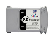 Remanufactured 350ml HP #80 BLACK for DesignJet 1050, 1055 (C4871A)