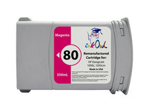 Remanufactured 350ml HP #80 MAGENTA for DesignJet 1050, 1055 (C4847A)