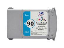 Remanufactured 400ml HP #90 CYAN Cartridge for DesignJet 4000, 4020, 4500, 4520 (C5061A)