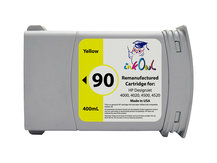 Remanufactured 400ml HP #90 YELLOW Cartridge for DesignJet 4000, 4020, 4500, 4520 (C5065A)