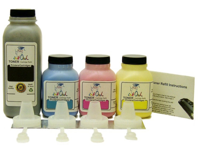 4-Color Laser Toner Refill Kit for BROTHER TN-310, TN-315, TN-320, TN-325, TN-328, and others